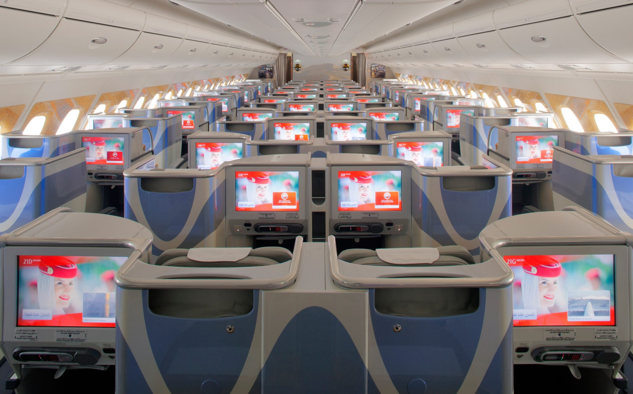 Business class, too, is better on the A380. Image: Emirates