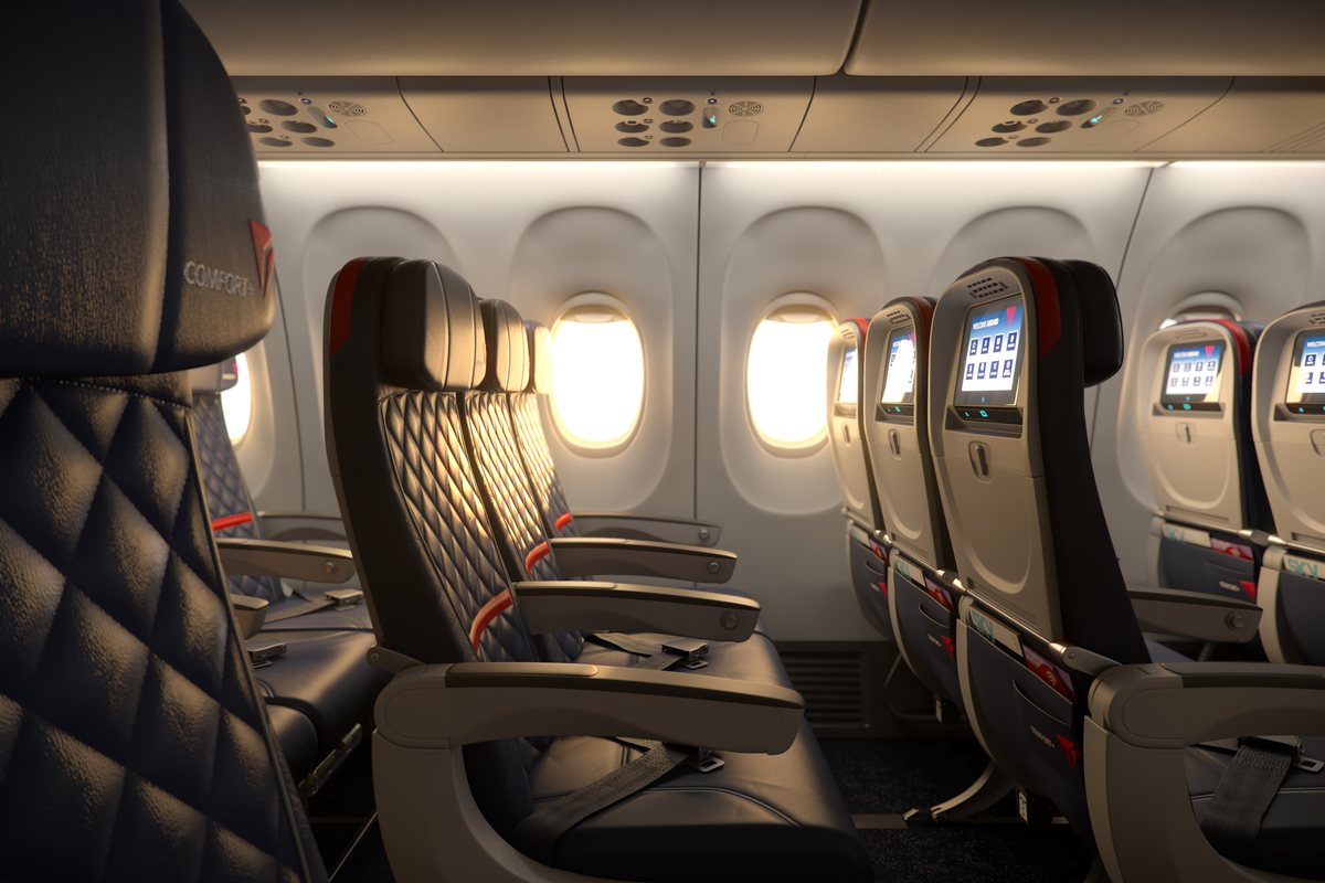 Delta offers different amenities in domestic Canada and longhaul Comfort+. Image: Delta