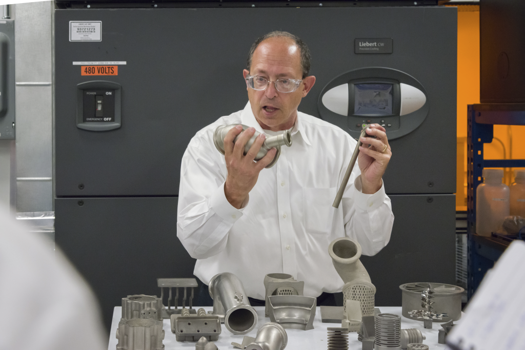 Honeywell Engineer Fellow Donald Godfrey speaking about additive manufacturing. Image: Honeywell