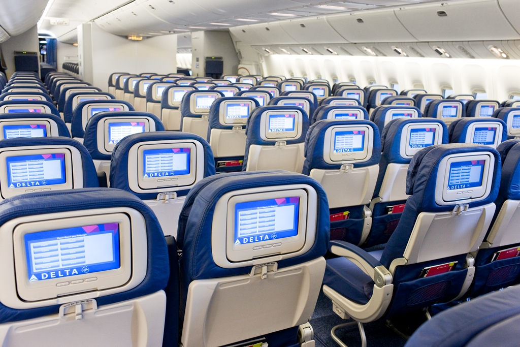 How will Delta fill the Comfort Canyon on its 777 aircraft. Image: Delta