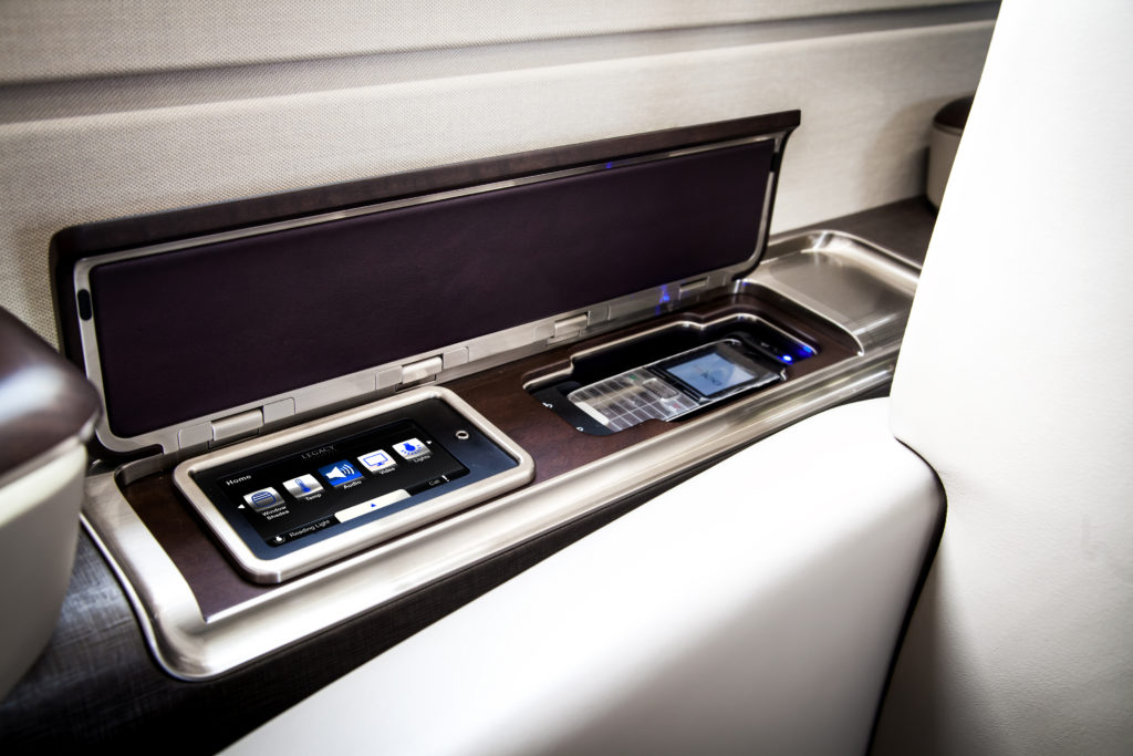 IFE controls just a tap away. Image: Embraer