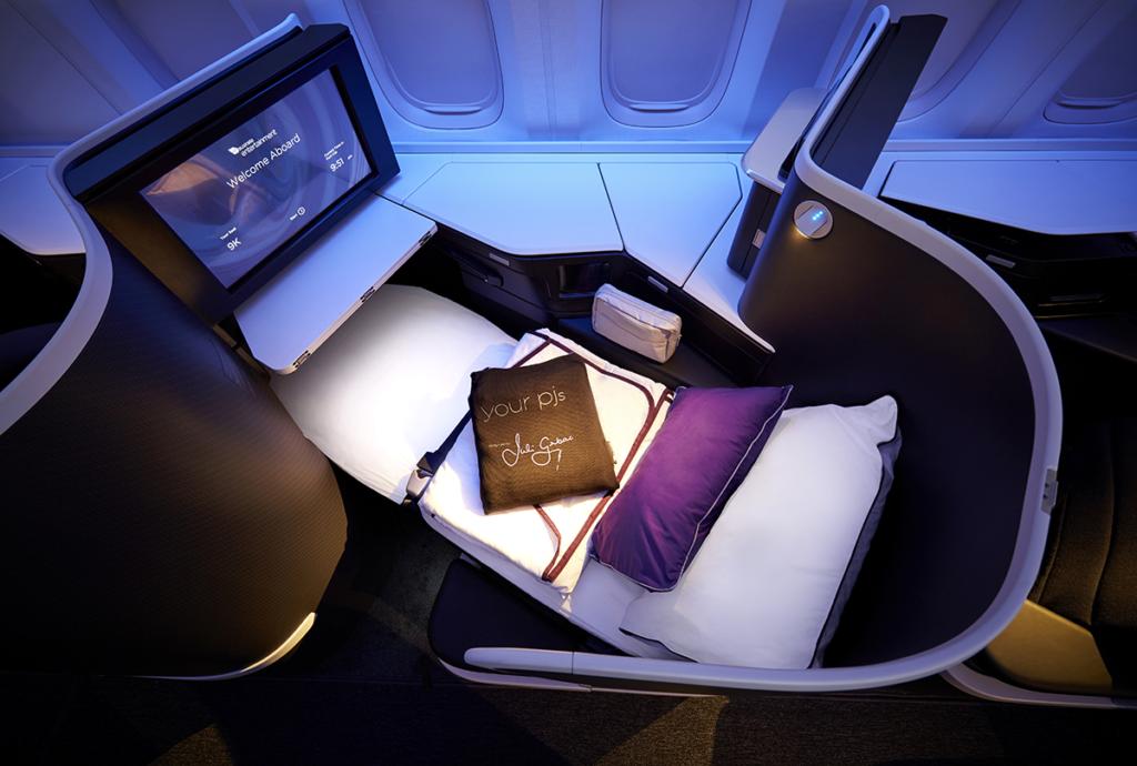 Mattress topper, PJs and pillows feature on overnight flights. Image: Virgin Australia