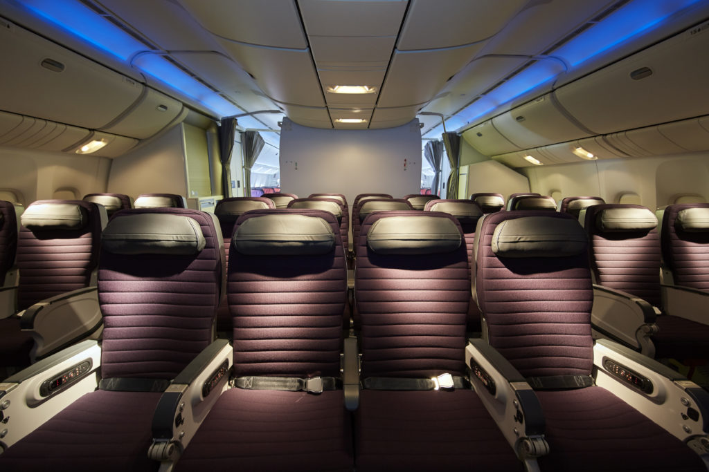Premium economy sees refreshed seats but the same shells as before. Image: Virgin Australia