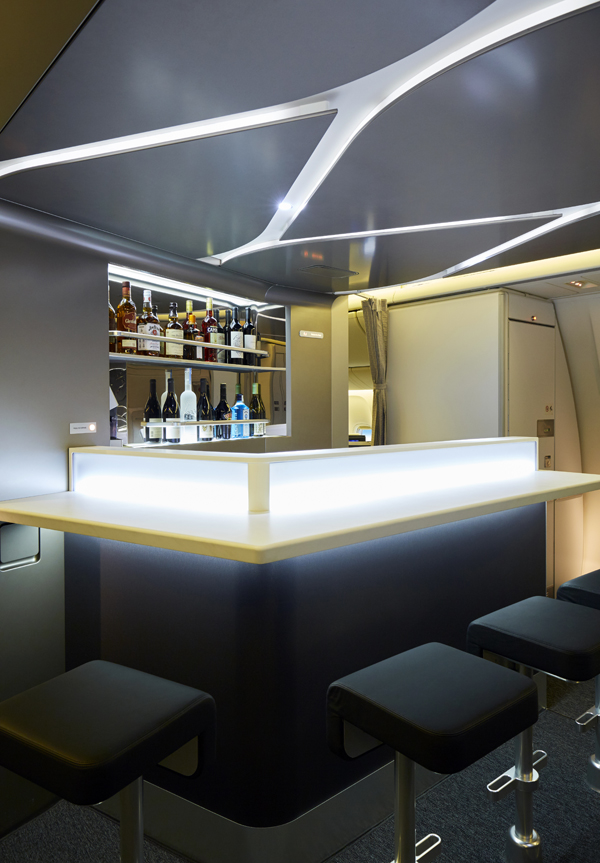 The Bar and Lounge are updated and chic. Image :Virgin Australia