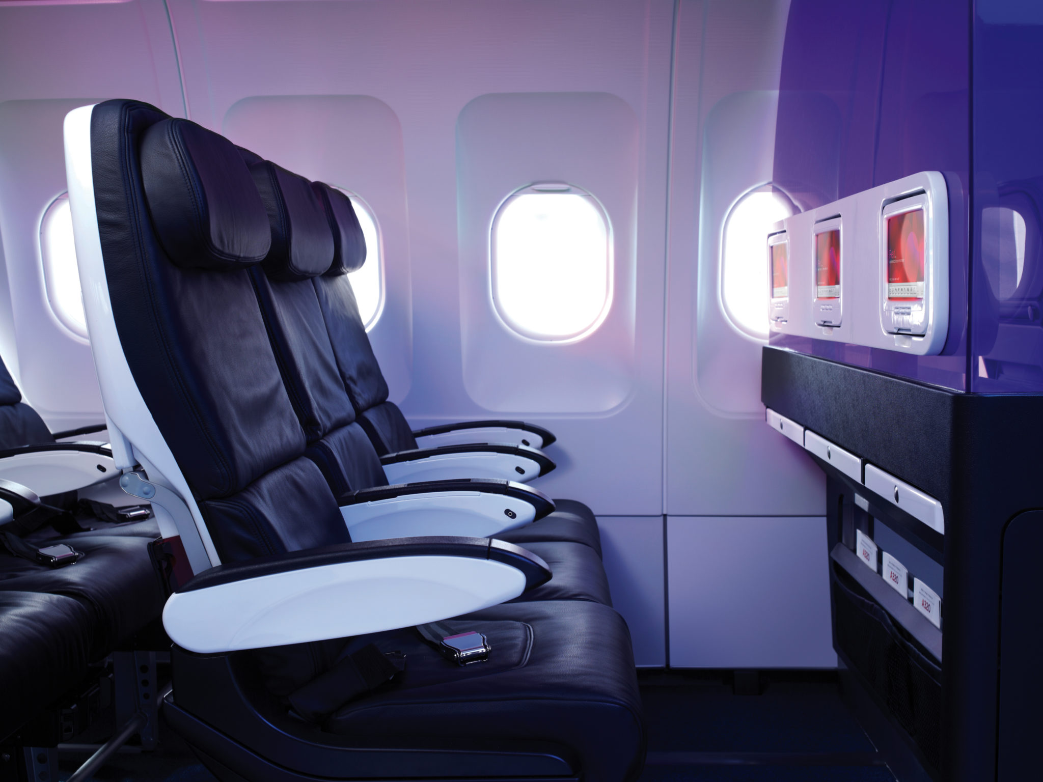 Virgin America's Main Cabin. Image: Virgin America