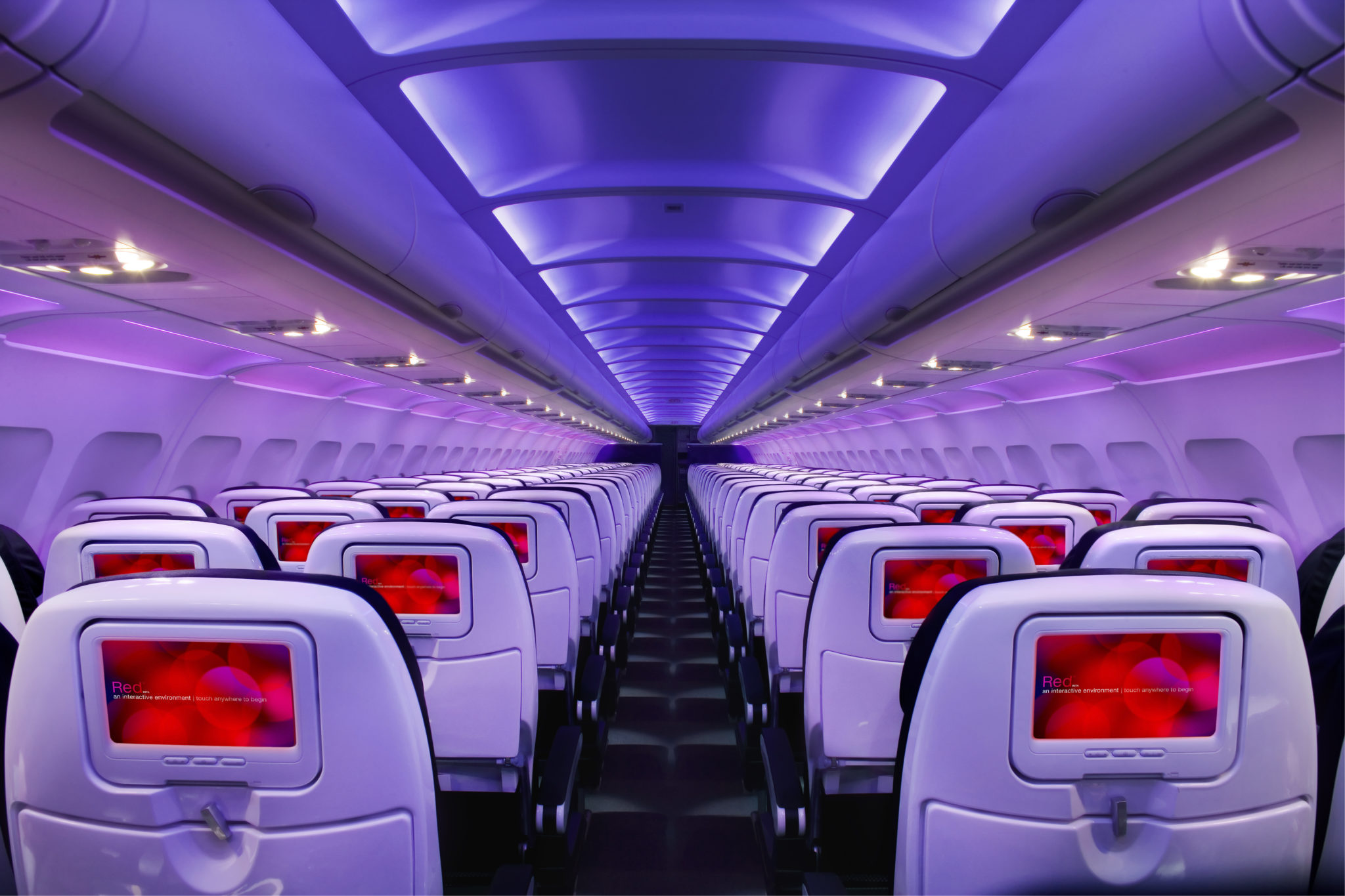 Virgin America Reds and Purples stand out amongst the rest. Image: Virgin America