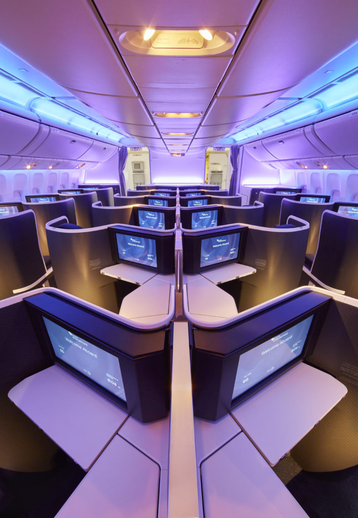 Virgin's business cabin is split between a larger forward and smaller second cabin. Image: VA