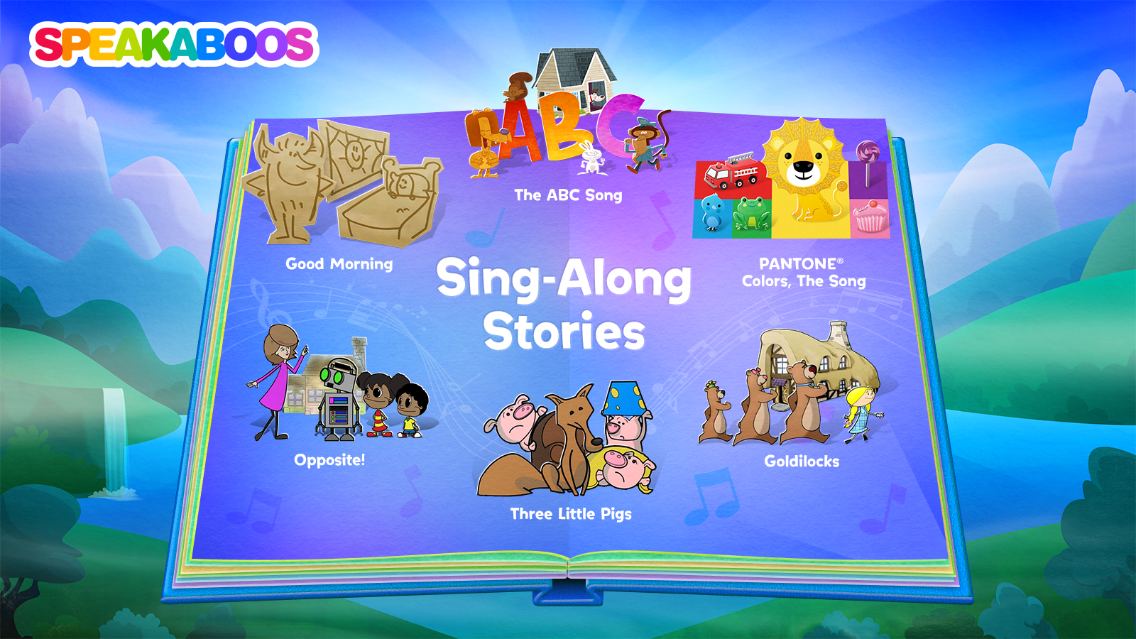 Sing-Along Stories is also another offering for Delta's child passengers. Image Speakaboos