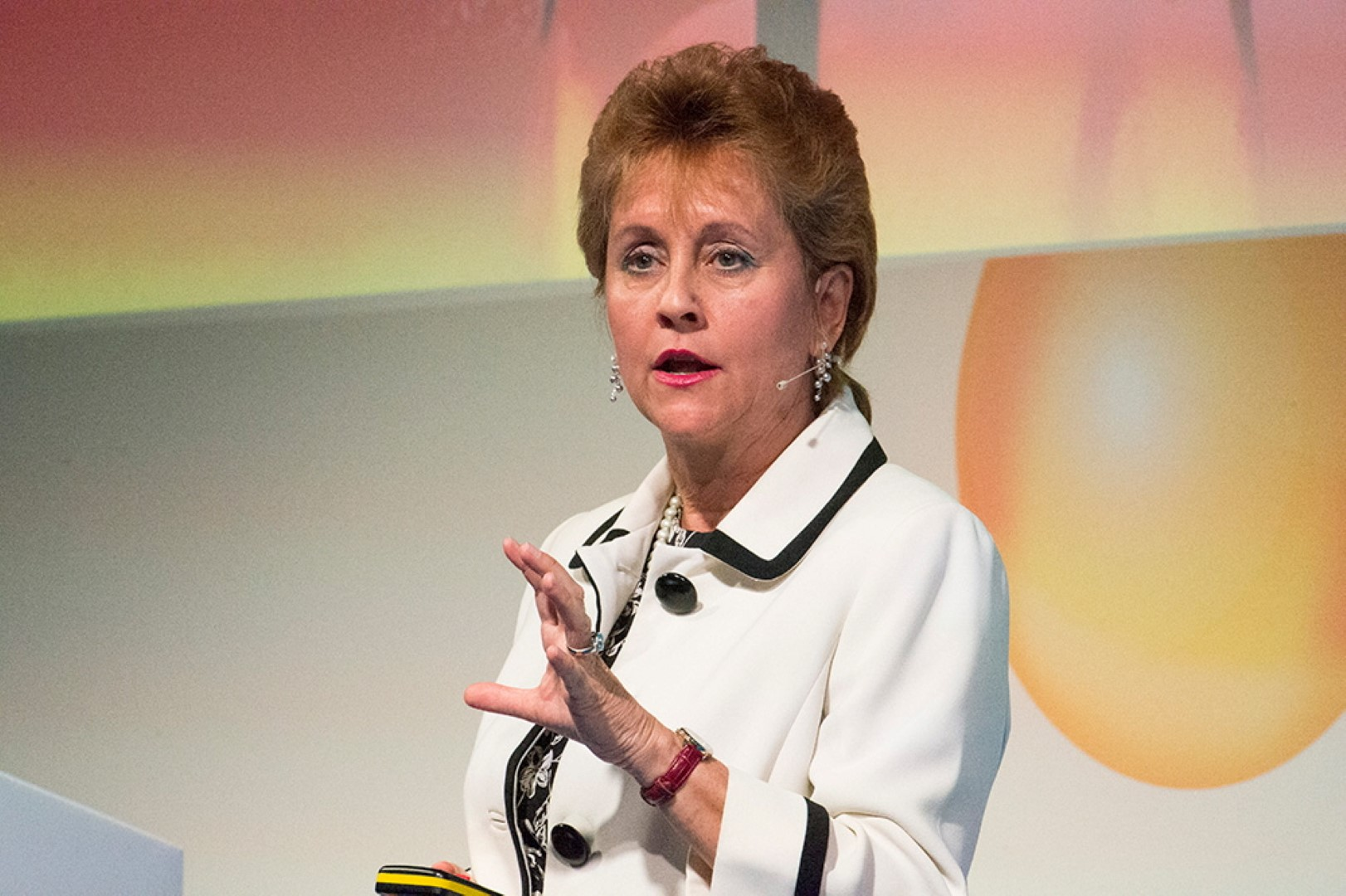 Faye Francy talks about cyber security at