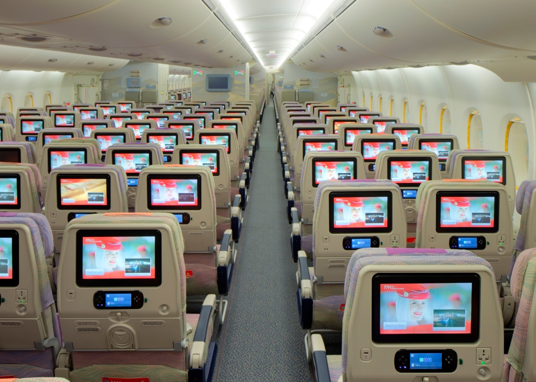 Emirates IFE has many options that help the time fly by on a long haul flight. Image: Emirates