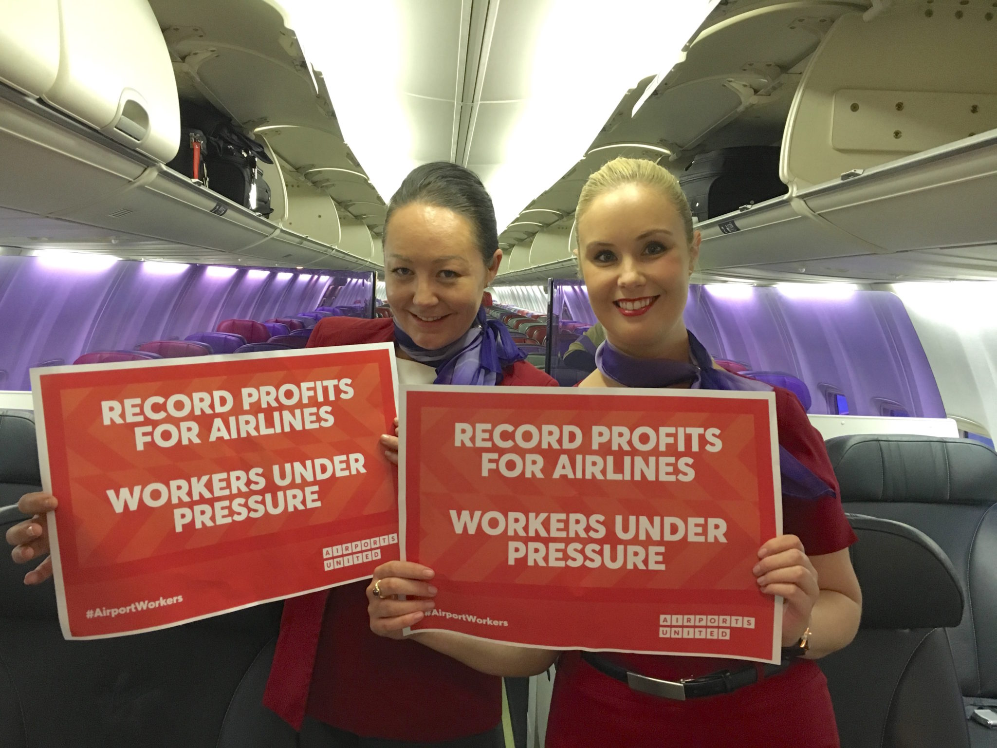 Australian airline workers are part of the new Airports United group. Image: United