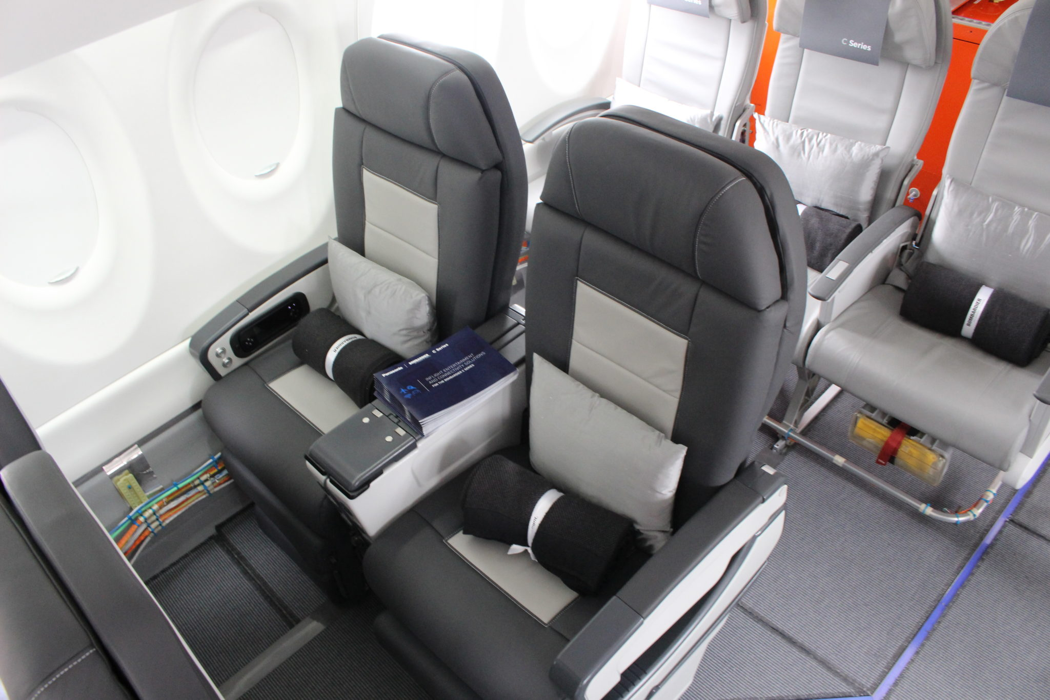 I'd expect the Delta and Air Canada recliners to look something like this test rig, seen at the Paris Air Show in 2015. Image: John Walton