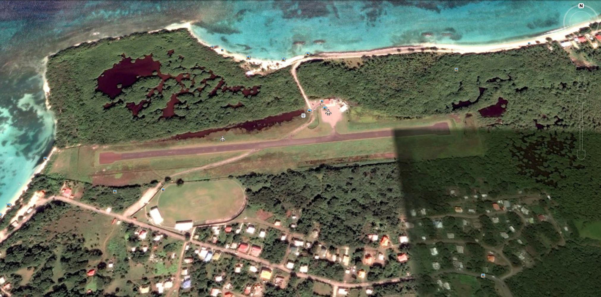Lauriston Airport, Carriacou, Grenada. Image: Google Earth