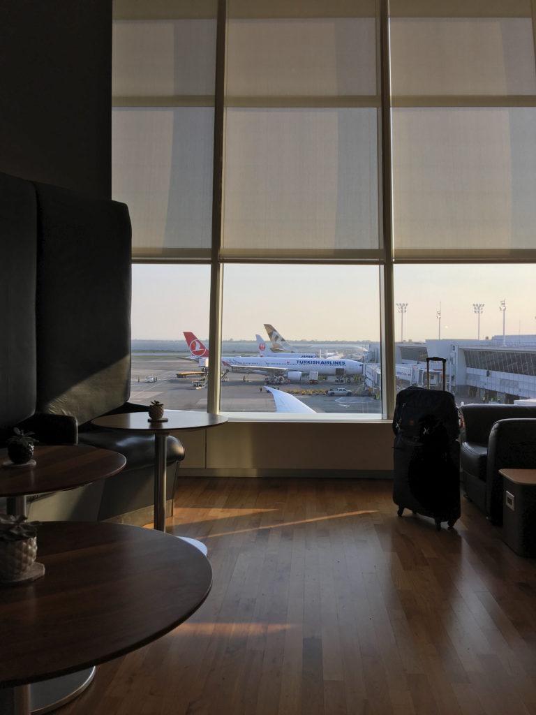 Spacious windows make for an airy, open feel to the lounge. Image: John Walton