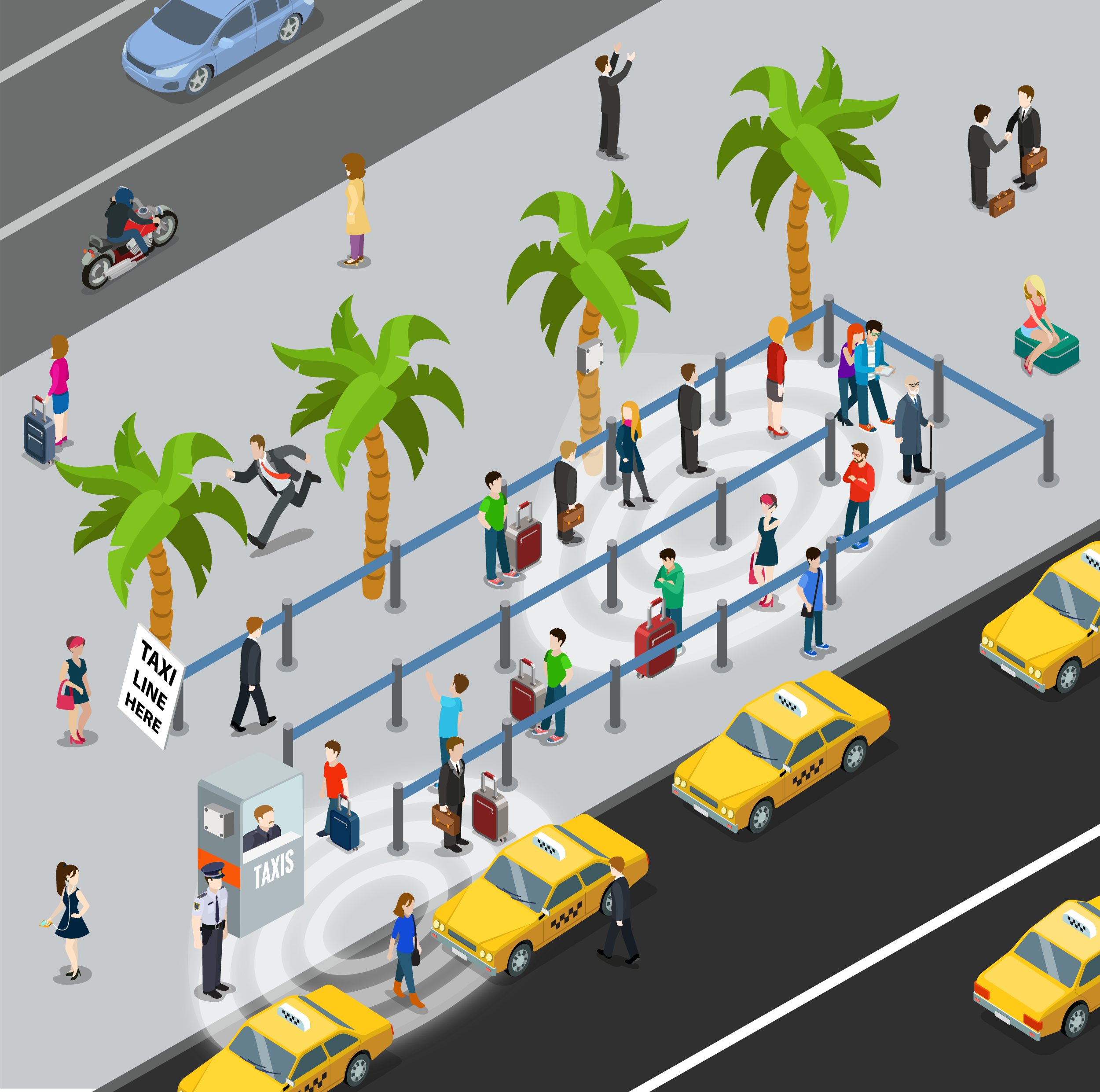 Illustration of SAN taxi rank. Image: BLIP Systems
