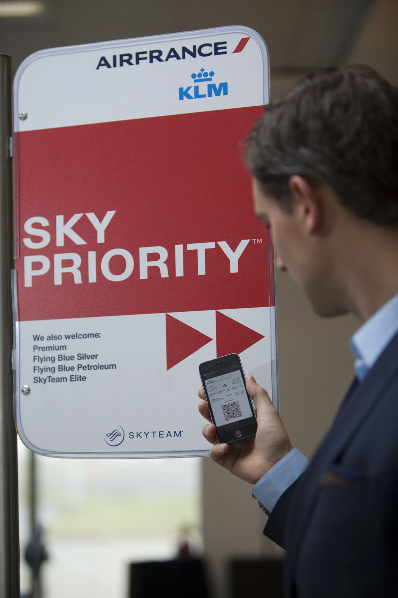 Sky Priority checkin at Heathrow Airport. Image: SkyTeam
