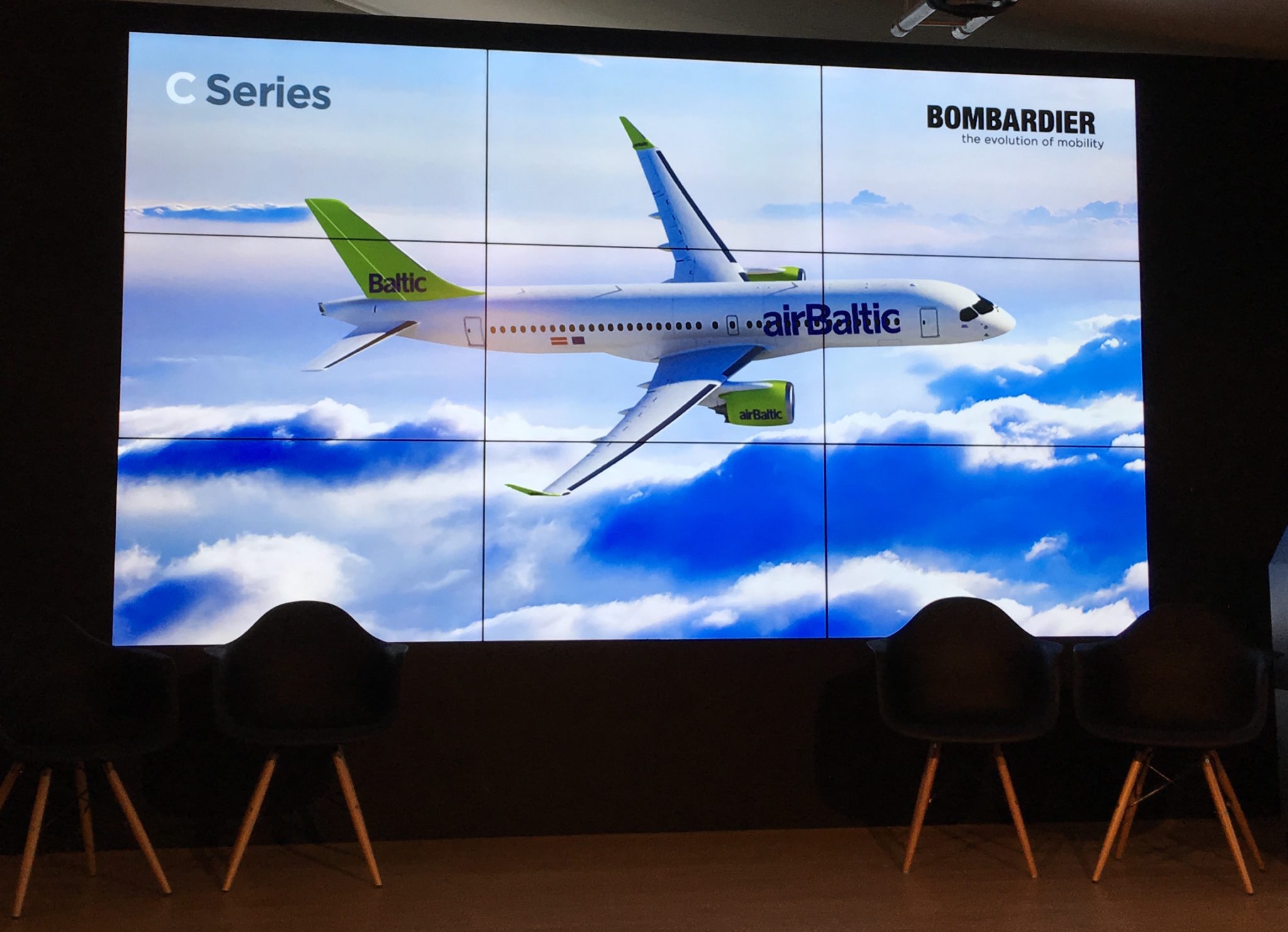 AirBaltic has firm orders for twenty of the type. Image: John Walton
