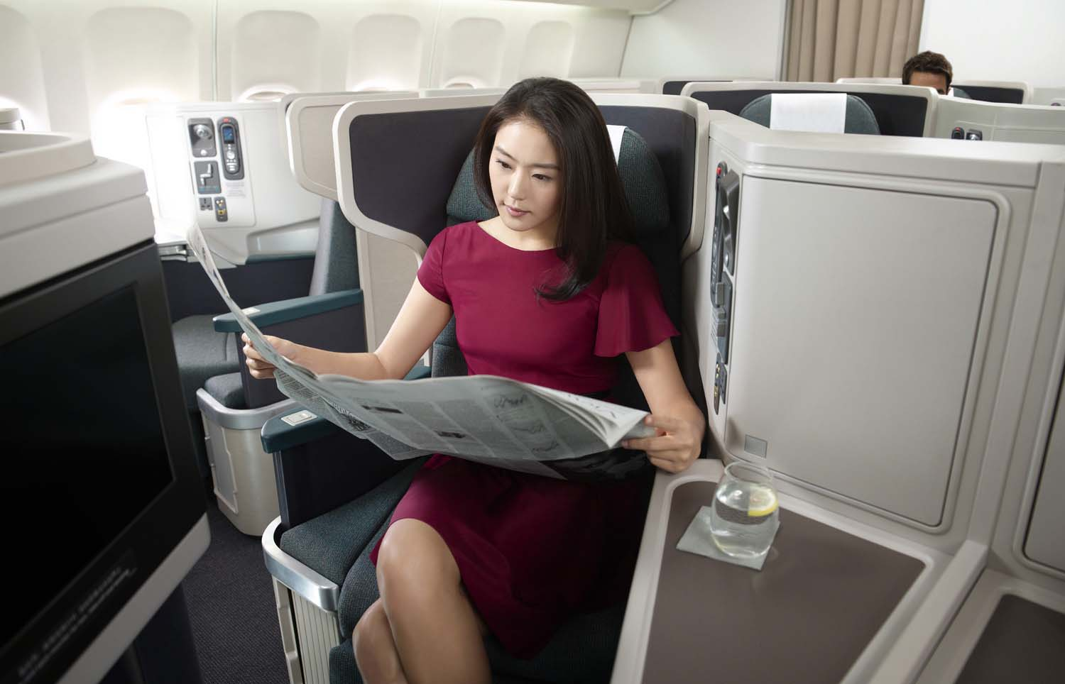 Cathay's first-generation Cirrus seat is still a landmark of passenger experience. Image: Cathay Pacific