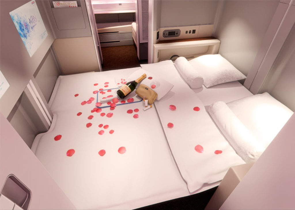 I'd expect to see a double bed in the centre pair of first class seats. Image: Acumen