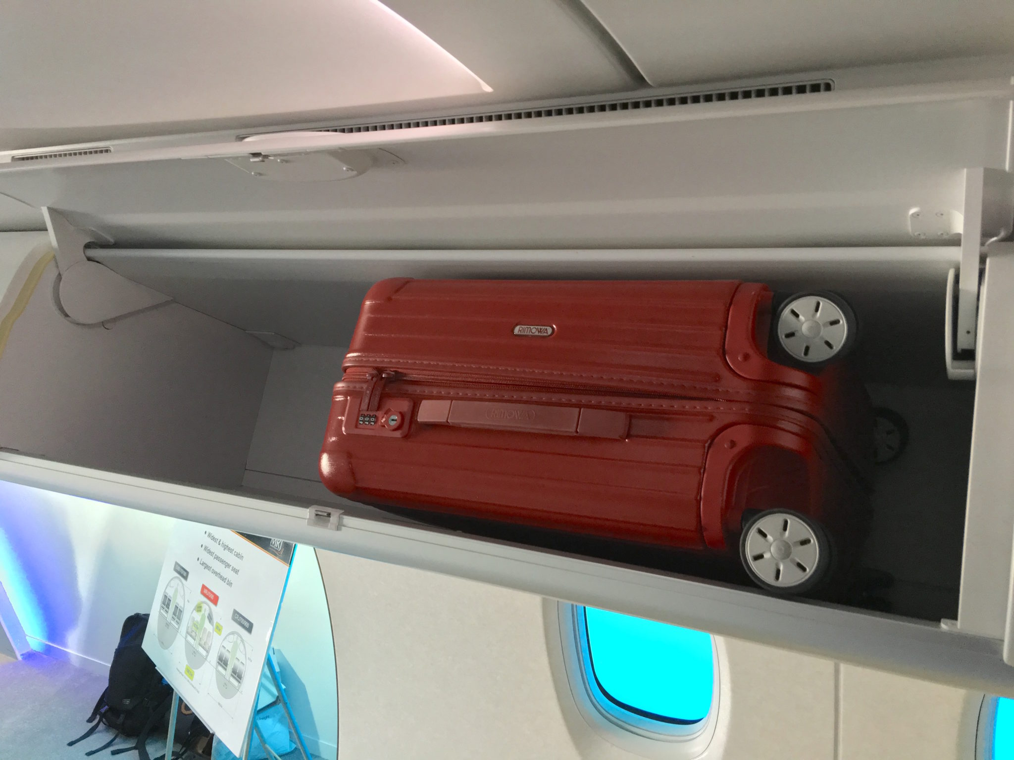 If this mini-Rimowa takes up this much space, that's a problem for the MRJ. Image: John Walton