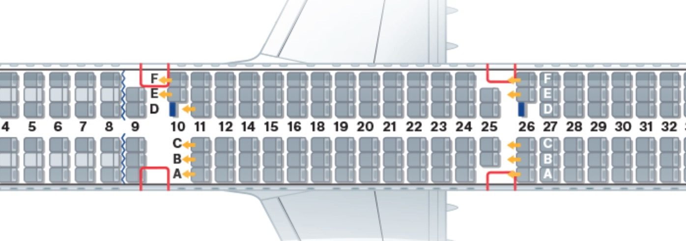 Lufthansa's A321 seat map shows several ways in which the 236 seat number might be reached. Image - Lufthansa