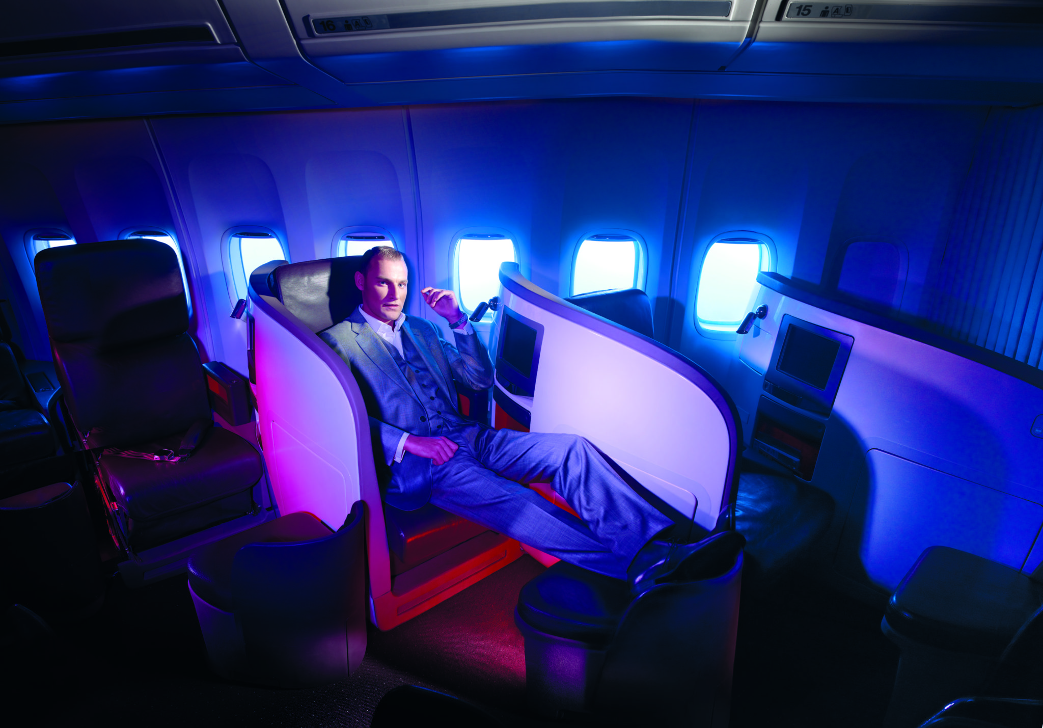 Somewhat controversially, the Upper Class Suite flips over for bed mode. Image: Virgin Atlantic