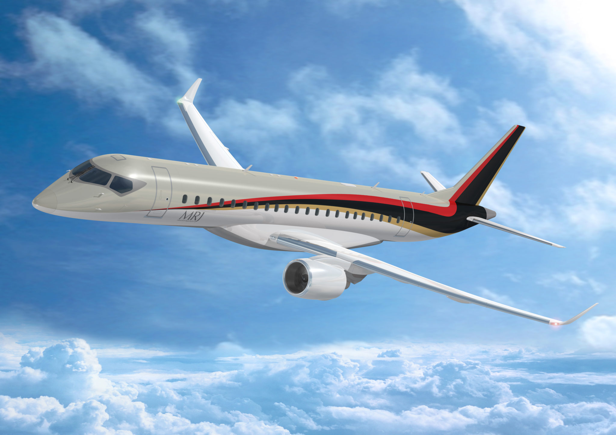 The MRJ90 is due to be stretched into a 100-seater version. Image: MRJ