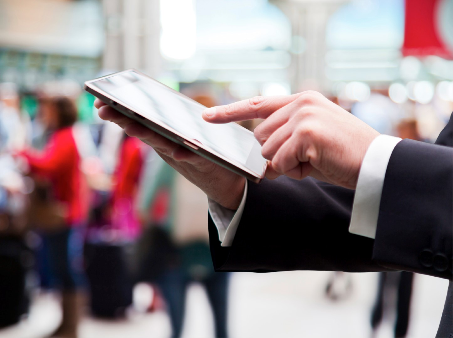 Being able to check in a passenger from anywhere will be a great convenience. Image: Rockwell Collins