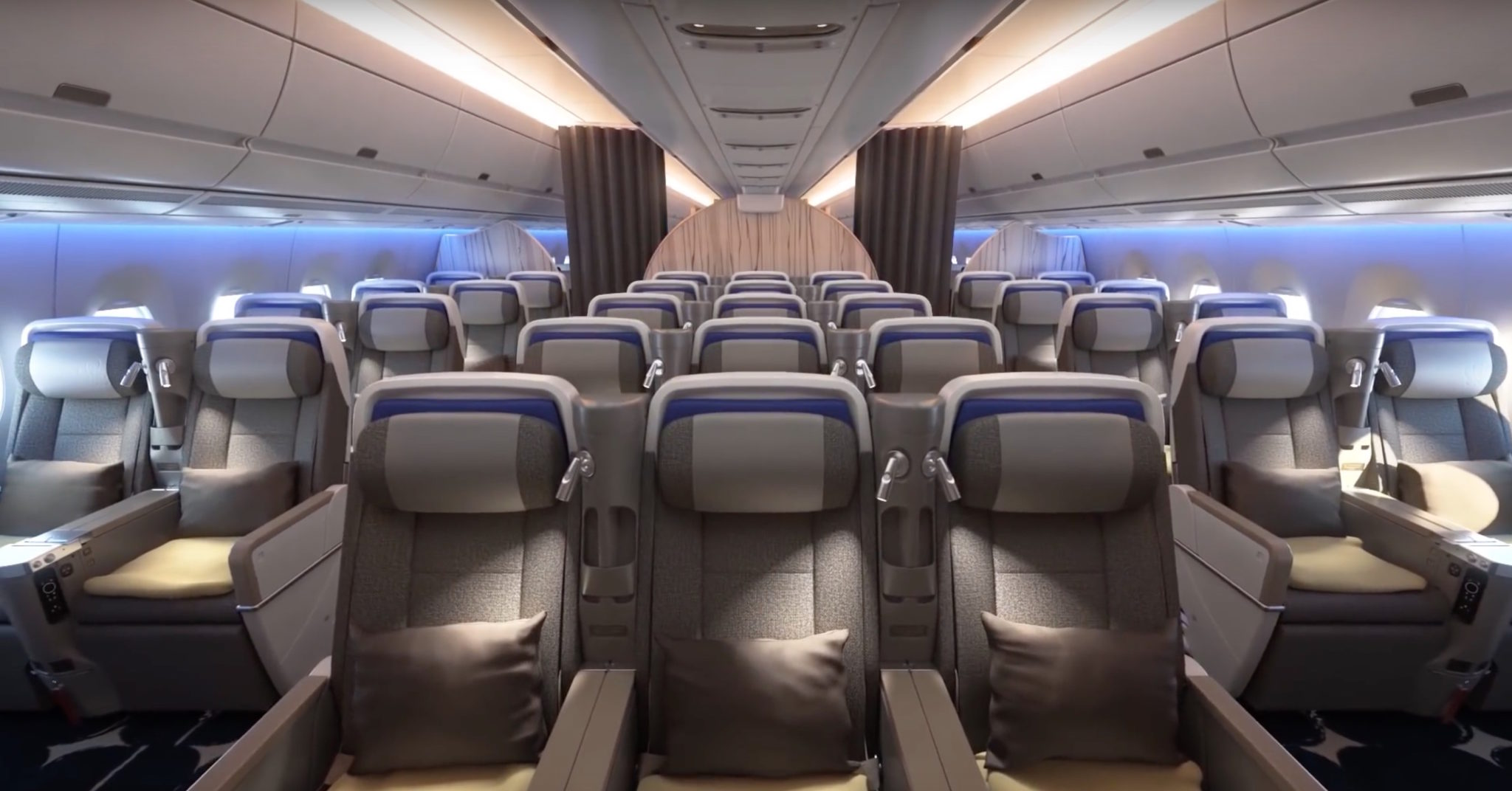 2-3-2 in premium economy on the A350 is a real #PaxEx bonus. Image: China Airlines