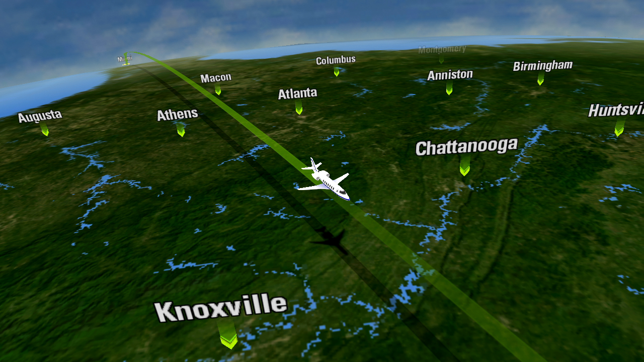 Airshow® 500 delivers a modern moving map experience found on large business jets and airliners to the light business jet market. Image and Caption: Rockwell Collins