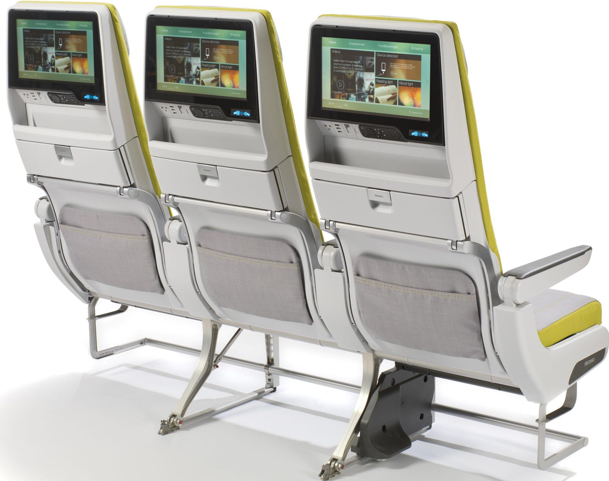 Recaro's CL3710 is a fully featured economy seat. Image: Recaro