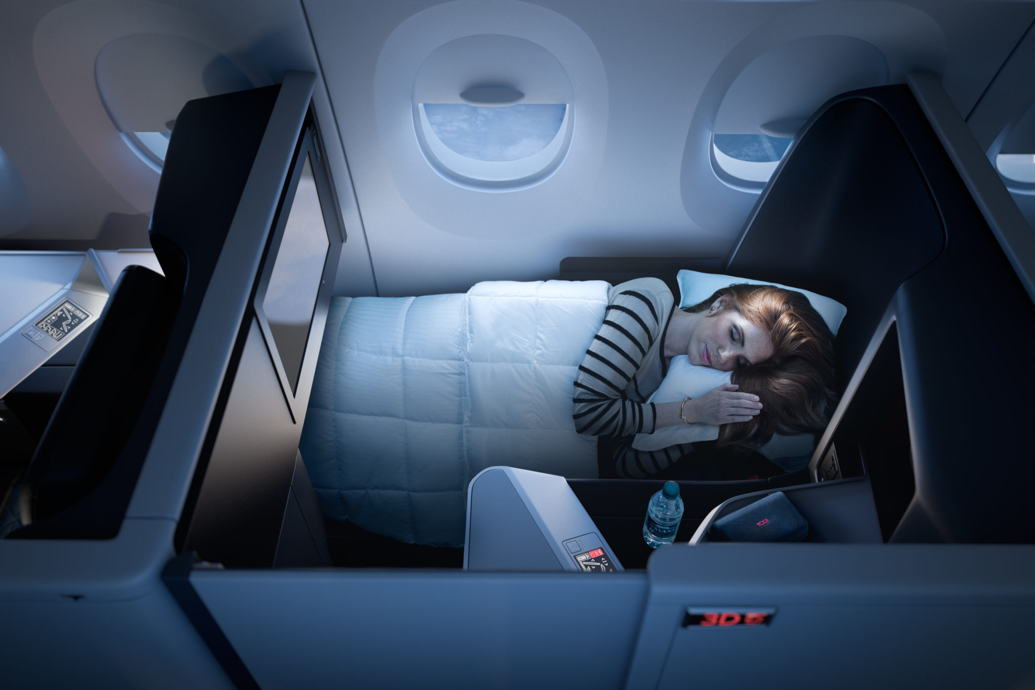 The seats nearer the window will be the most popular to avoid having to lean over the side table to see out. Image: Delta