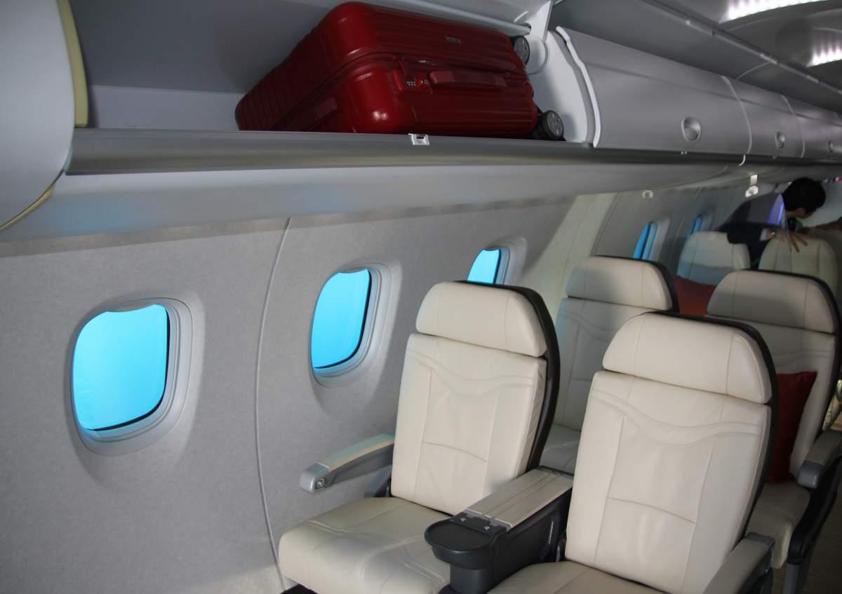 First class in the Mitsubishi MRJ cabin mockup