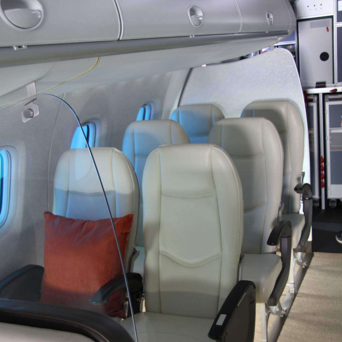 Economy class on the Mitsubishi MRJ mockup