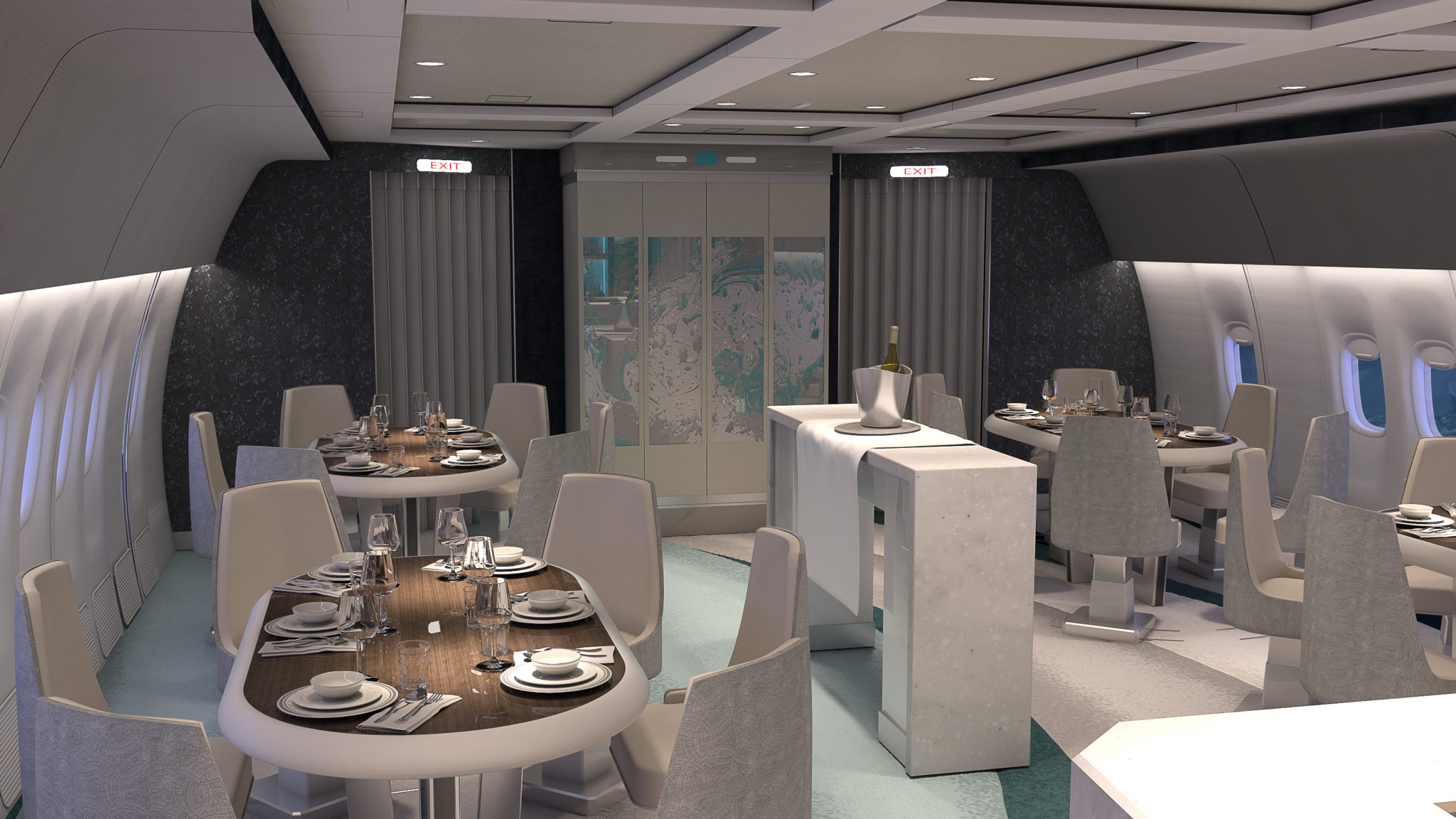Crsytal AirCruise takes things to the next level above premium with a exceptional dining area. Image: Crystal Cruises