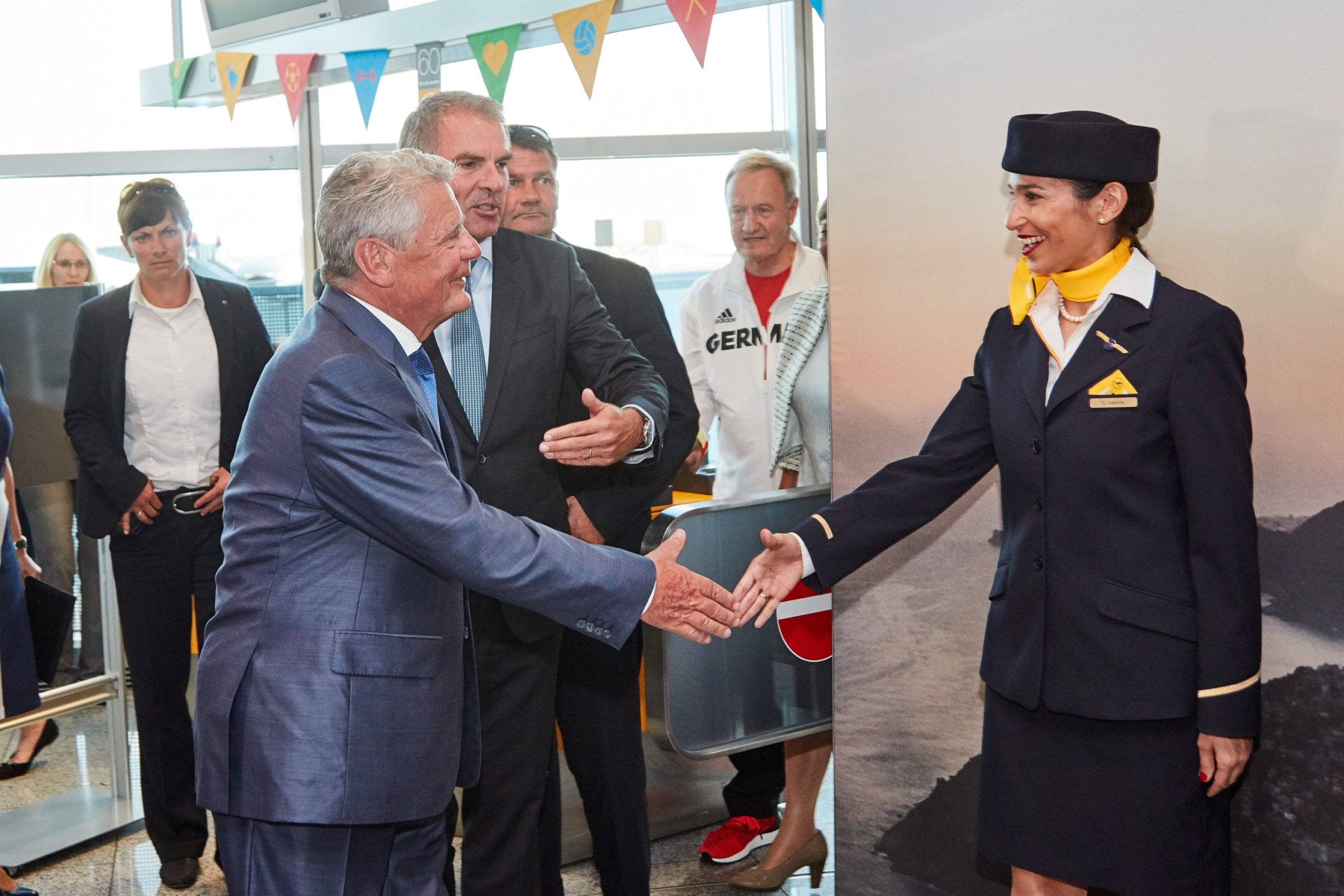 Germany — and its national carrier — threw a big sendoff for the Paralympians. Image: Lufthansa