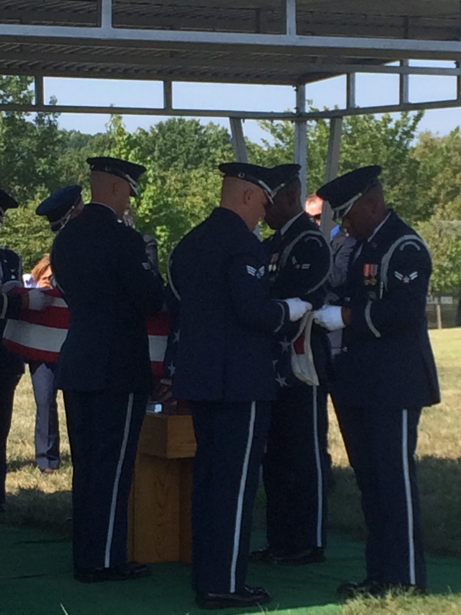 Air Force Honor Guard. Image: Benet Wilson