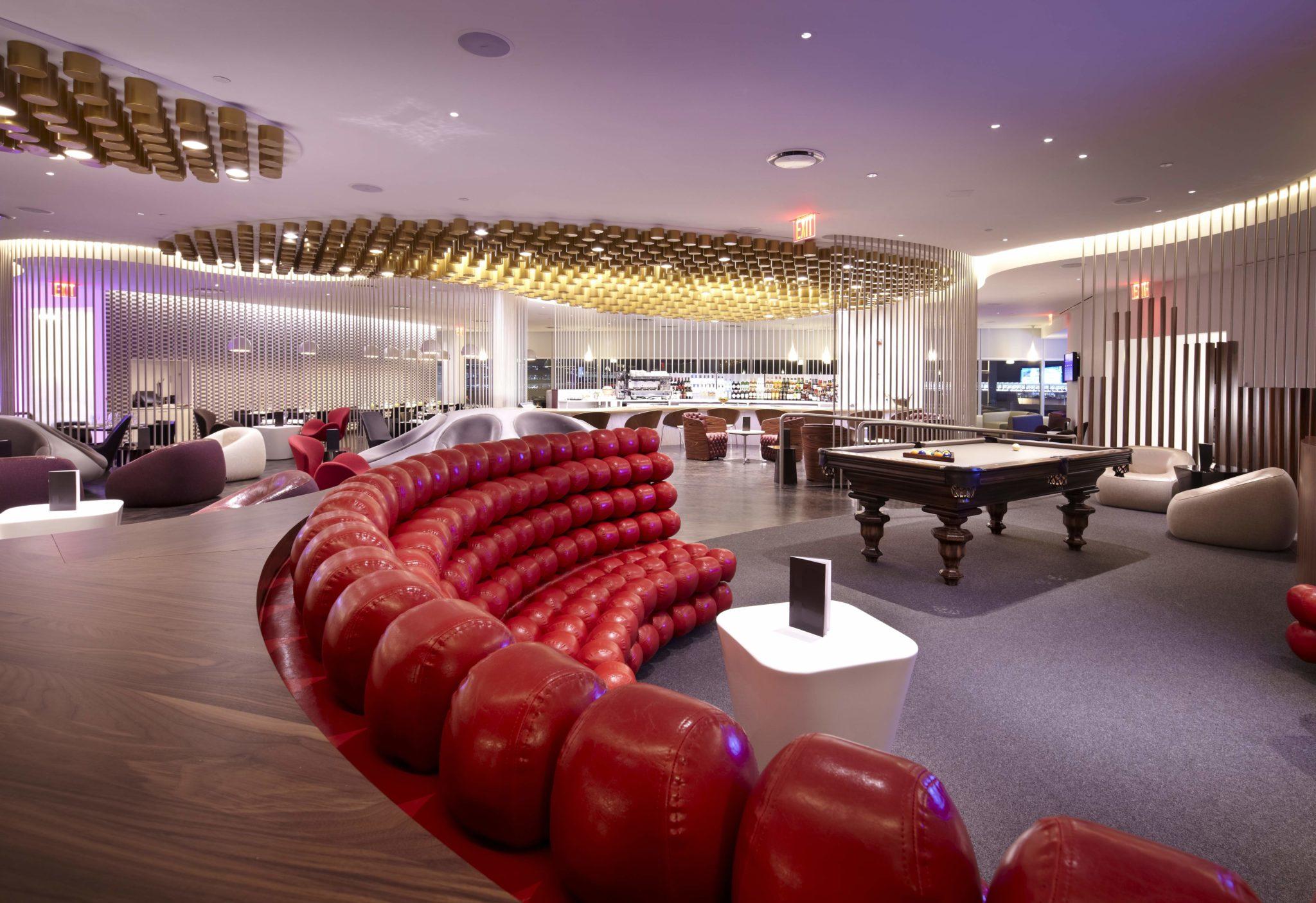 JFK clubhouse billiards. Image: Virgin Atlantic