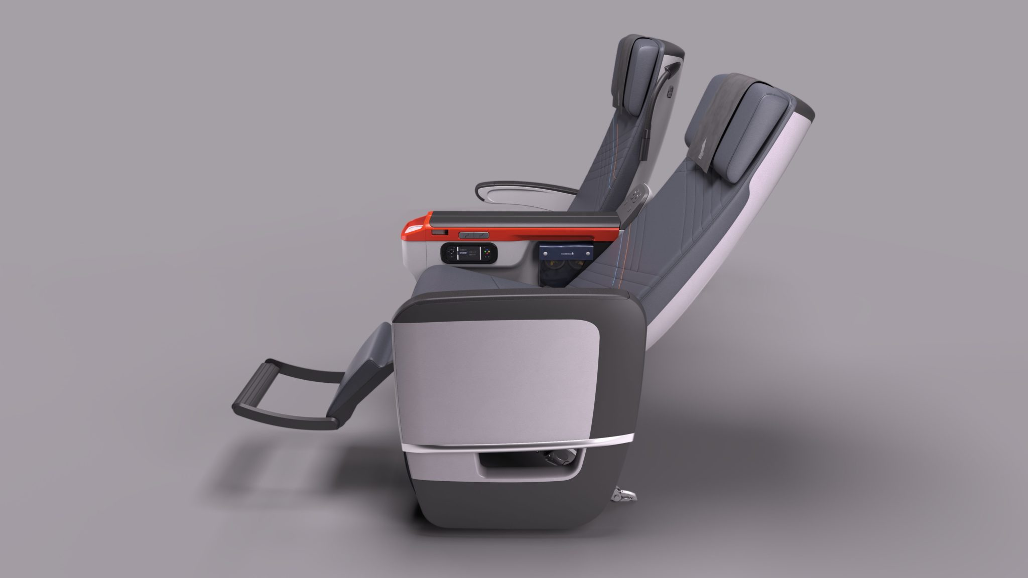 Singapore AIrlines is shaking up its striking premium economy cabin for the A350. Image: SQ