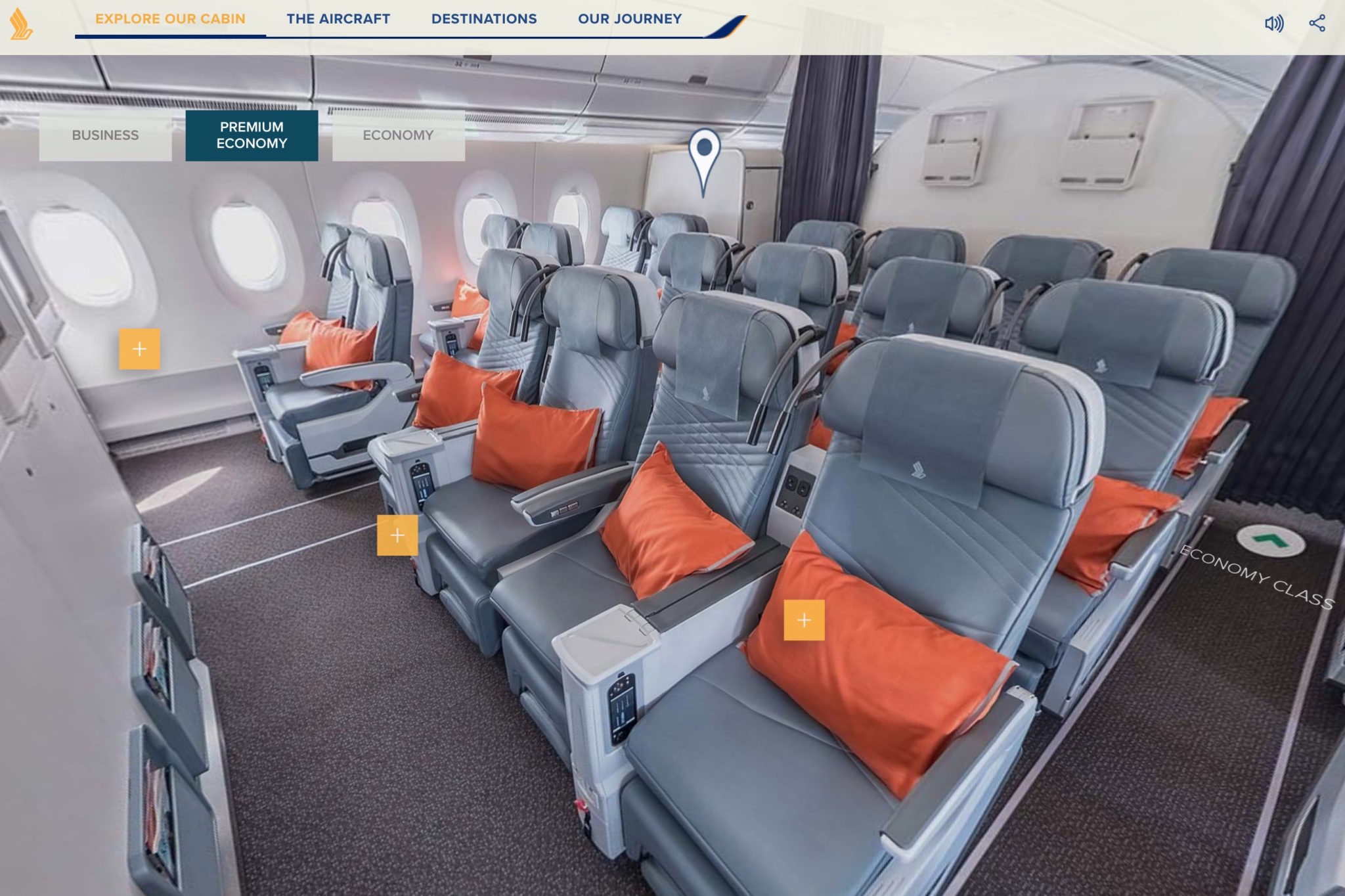 Singapore Airlines and Cathay Pacific both have eight seats abreast on their A350. Image: Singapore Airlines