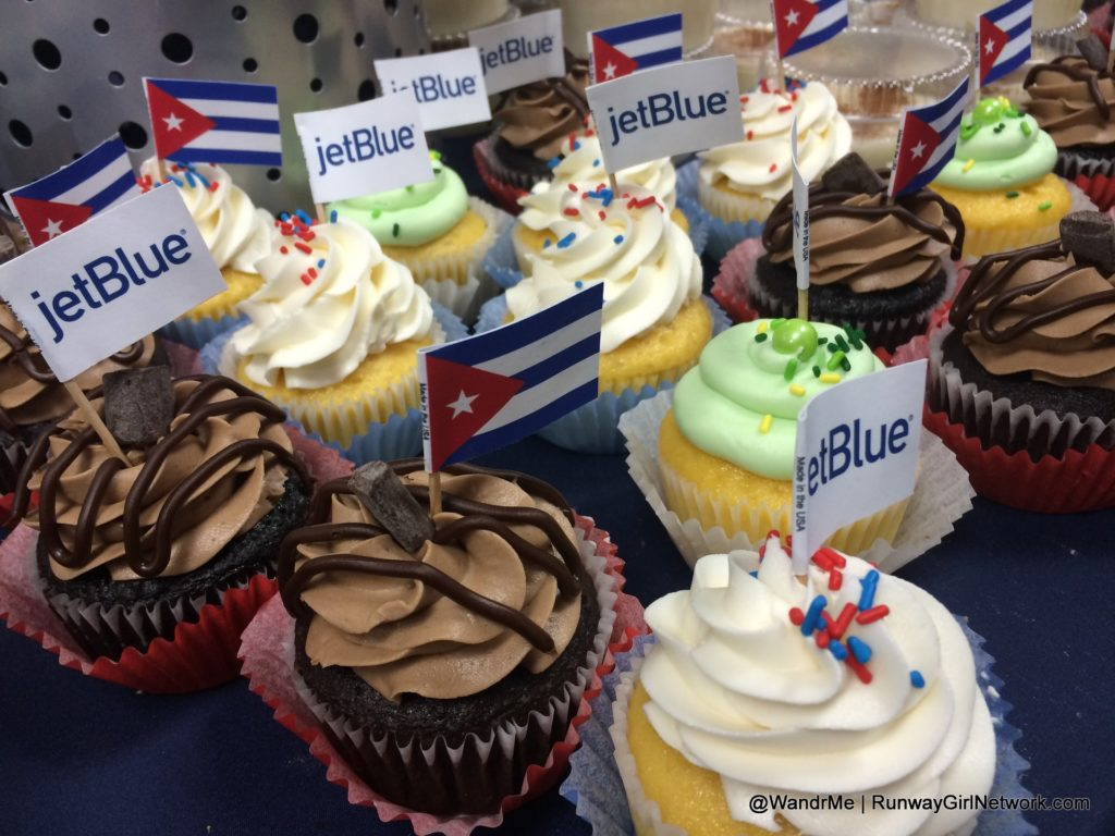 Cupcakes galore pre-flight for JetBlue's flight from Fort Lauderdale to Santa Clara, the restoration of commercial service between the US and Cuba