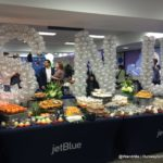 The gate area was decked out pre-flight for JetBlue's inaugural from Fort Lauderdale to Santa Clara, the restoration of commercial service between the US and Cuba
