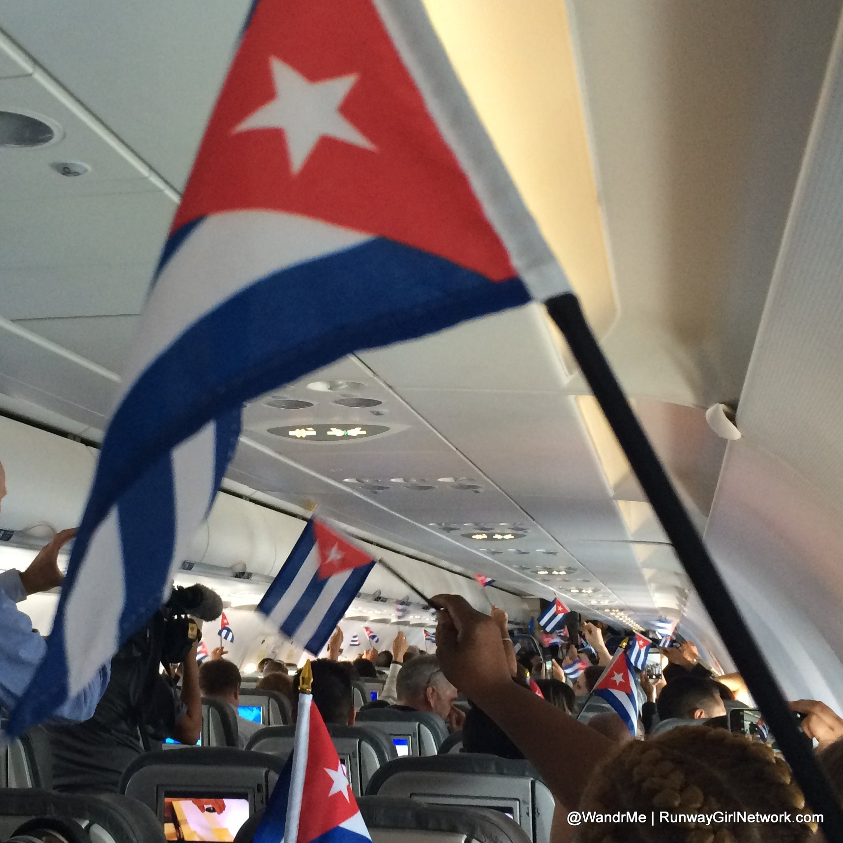 Cuban flags waved as we touched down in Santa Clara with JetBlue bringing the restoration of commercial service between the US and Cuba
