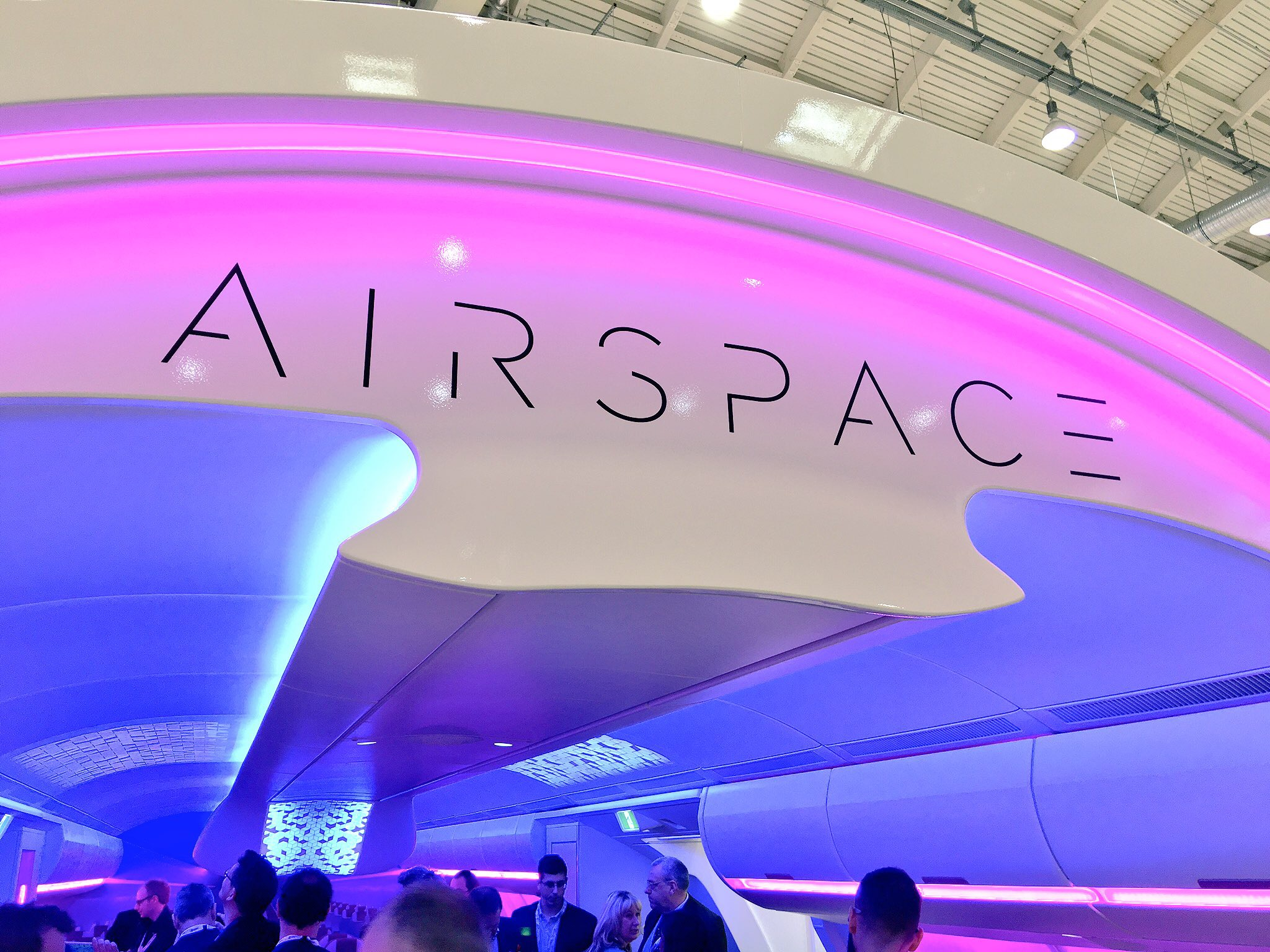 Airbus exhibited it's Airspace cabin at AIX in Hamburg this spring, Image: John Walton