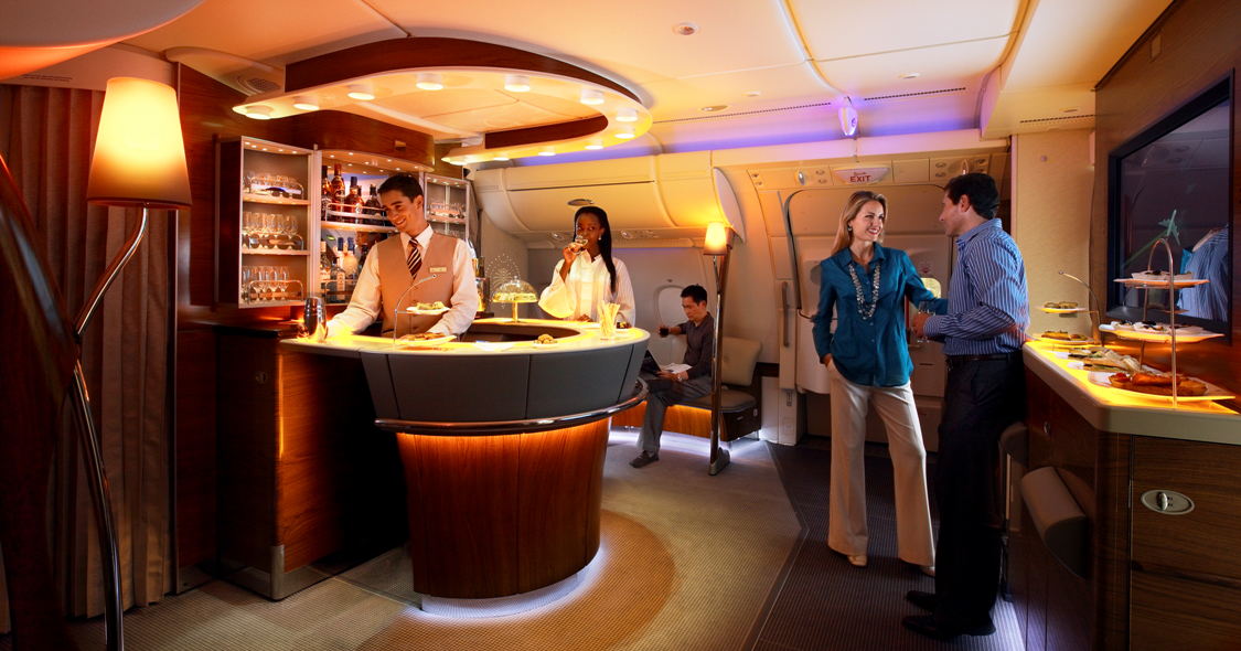 No business class bar on the Emirates flight to Fort Lauderdale...yet. Image: Emirates