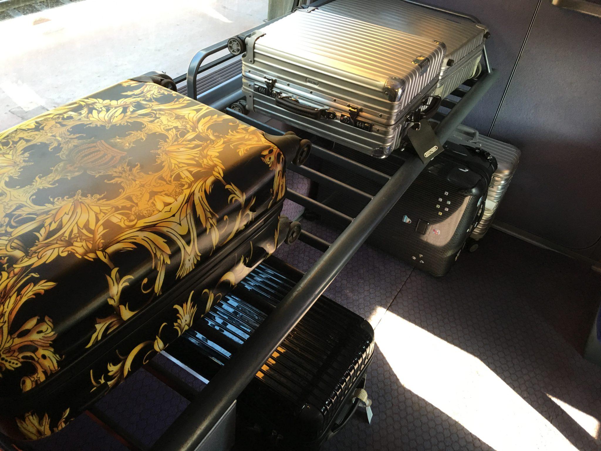 Spacious suitcase racks are a #PaxEx bonus for travellers. Image: John Walton