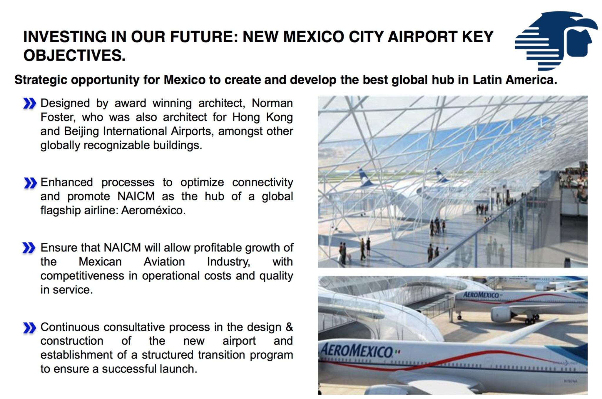 With a new airport and a new fleet, Aeromexico has real opportunities to grow as a connecting carrier. Image: Aeromexico
