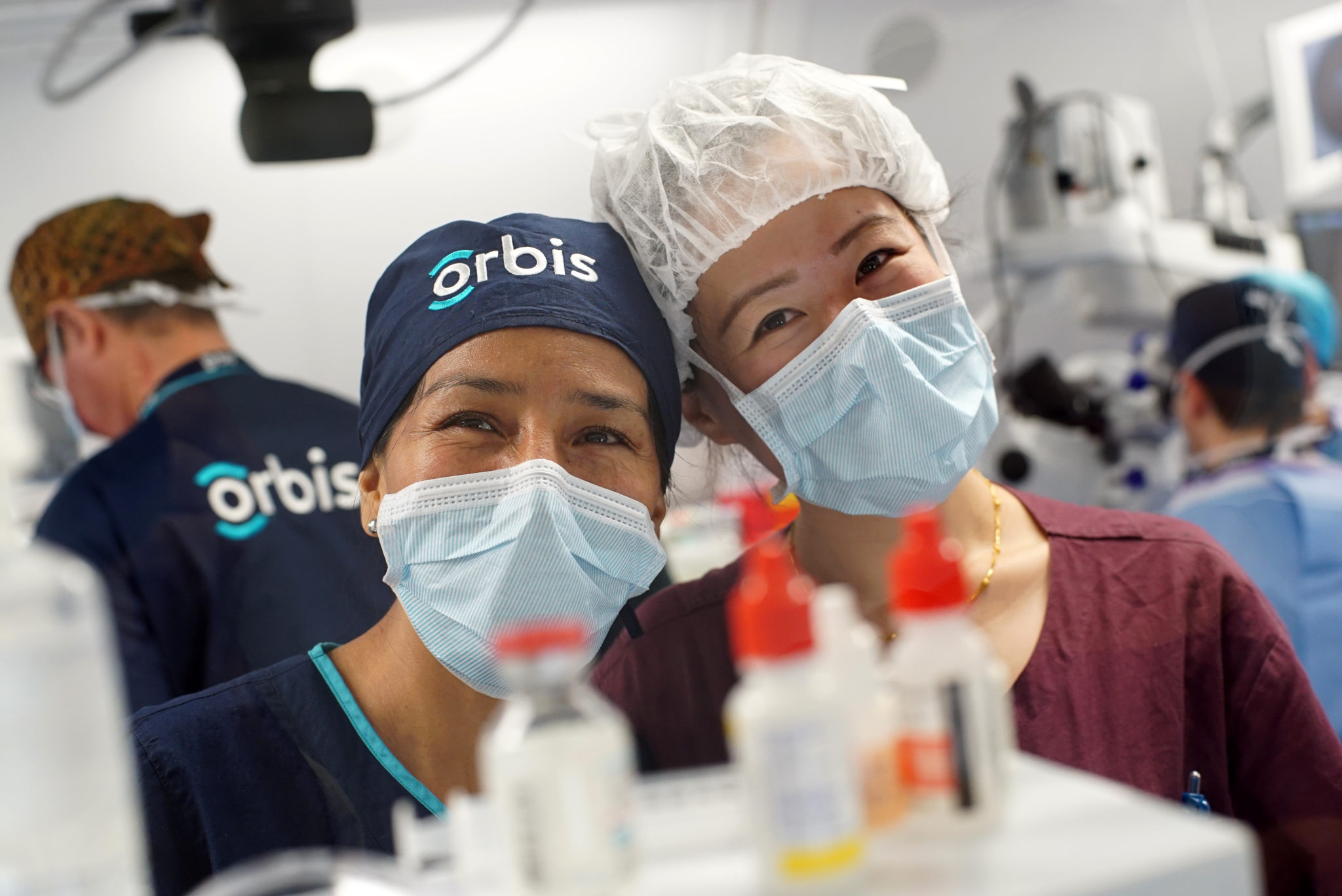 Friendship building! Staff nurses and trainee nurses keeping the Operating room humming along. Image: Orbis Flying Eye Hospital Program - Shenyang, China