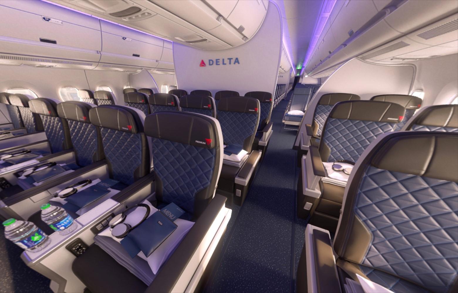Delta Premium goes for biz-minus amenities, but average seat