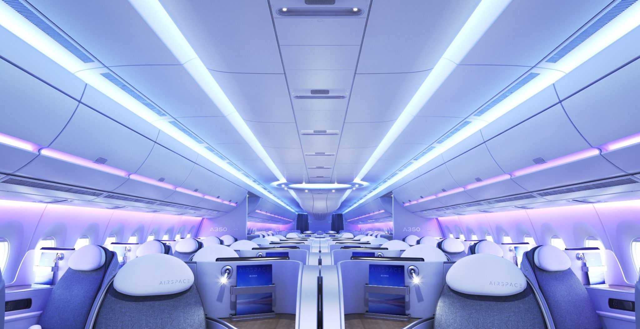 Airbus A320 cabin offers numerous passenger experience improvements over older cabins. Image: Airbus